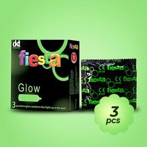 Premium Fiesta Glow-in-the-dark condoms (3 condoms)