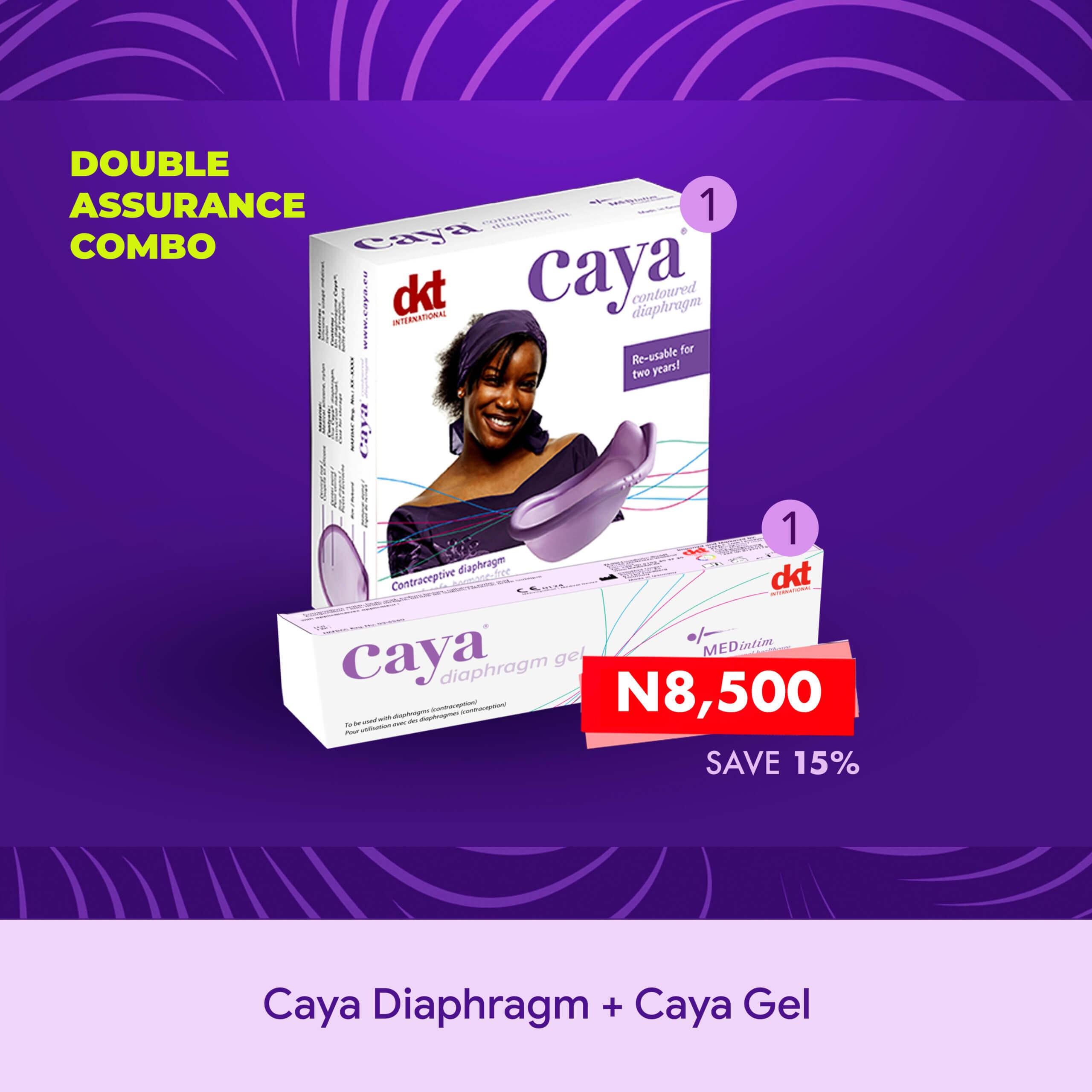 Caya Diaphragm + Gel (Double Assurance Combo)